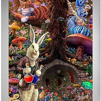 Down the Rabbit Hole Alice in Wonderland Poster - Spencer's