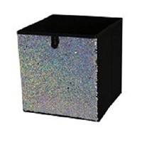 Mainstays Sequin Collapsible Storage Bin (Glitter Holographic/Silver)