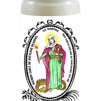 Saint Martha Patron of Battling Demons 8 Ounce Scented Soy Prayer Candle