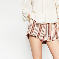 FRAYED MINI SHORTS