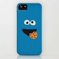 Sesame Street Vintage Nursery Art Cookie Monster Retro Style Minimalist Poster Print iPhone & iPod Case by The Retro Inc