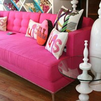 www.roomservicestore.com - Down with Love Sofa in Pink