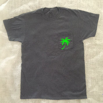 Palm Tree Pocket Tee