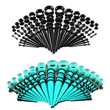 Acrylic Ear Gauge Taper And Plug Stretching Kits Flesh Tunnel Expansion Body Piercing Jewelry