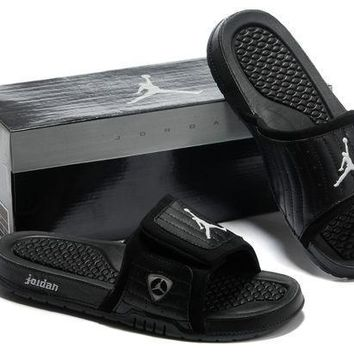 PEAPGE2 Beauty Ticks Nike Jordan Hydro Xiv Black Sandals Slipper Shoes Size Us 7-13