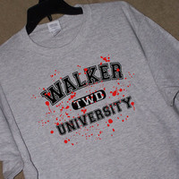 The Walking Dead WALKER UNIVERSITY T Shirt