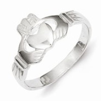 Sterling Silver Solid Claddagh Ring