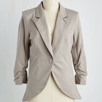 Scholastic Mid-length 3 Fine and Sandy Blazer in Pebble