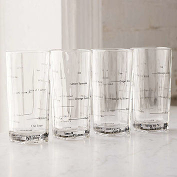 Tall Bartending Drinking Glass Set | Urban Outfitters