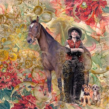 Dogs are Better Than Cowboys Art Prints by Shari Jenkins