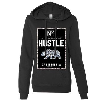 California Republic No. 1 Diamond Hustle Ladies Lt./Wt. Hoodie
