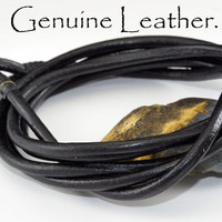 B-082 Finely Made Leather Cord Tiger Eye Wristband Multi Wrap Men Bracelet.