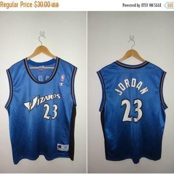 New Year Sale Vintage Michael Jordan #23 Champion Washington Wizards Basketball Jersey