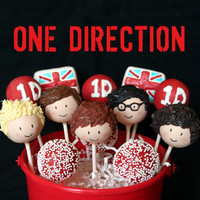 12 One Direction British Boy Band Cake Pops for by SweetWhimsyShop