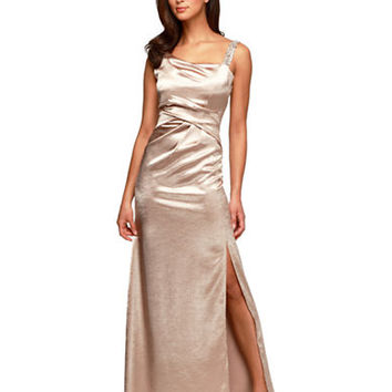 Alex Evenings Metallic Pleated Gown