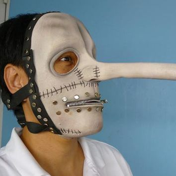 Chris Fehn Latex MASK White Slipknot Halloween Costume