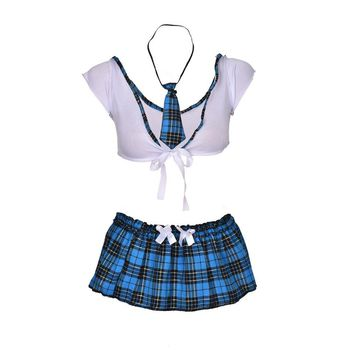 2018 New School Girl Sexy Costumes Student Uniform Maid Fancy Cosplay Lingerie Women Hot Student Uniform Dress Outfit Costumes