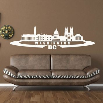 Washington D.C. City Skyline Wall Decal