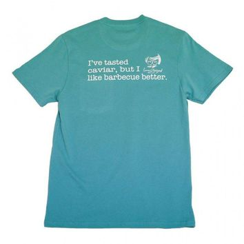 Barbecue Is Better Pocket Tee in Seafoam Green by Peach State Pride