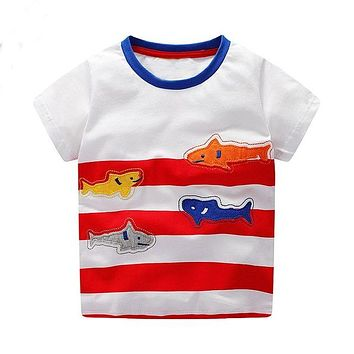 Fishy Striped Red Tee