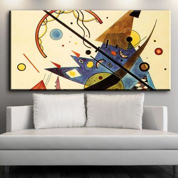 xdr602 Geometry Design Wassily Kandinsky Art Canvas Art Print Painting Poster, 60x120CM Wall Picture For Living Room, Home Decor