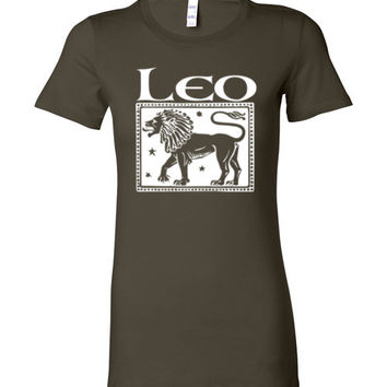 Leo Women's Zodiac Sign Bella Ladies Favorite Tee Shirt
