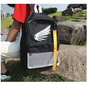 University College Backpack 2018 New Student  s Preppy Style Wing Contrast Color Ribbon Personality Large Capacity Best School sAT_63_4