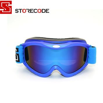 StoreCode Brand Ski Goggles 2 Double Lens Anti-Fog UV400 Snowboard Glasses Men Women Blue Frame Skiing Snow Goggles Set 657