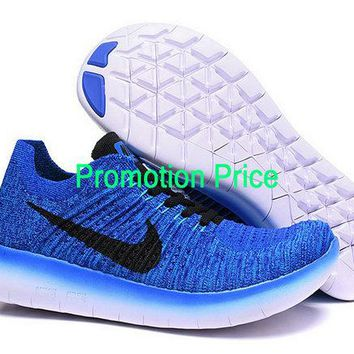 Legit Cheap Nike Free Rn Flyknit Game Royal Black sneaker