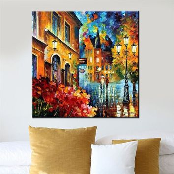 WEEN City Pictures By Numbers Canvas Arts 40x50cm DIY Hand Painted Oil Painting Coloring By Numbers Cuadros Decoracion Artwork