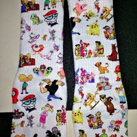 SWEET LORD O'MIGHTY! 90'Z CARTOON SOCKS