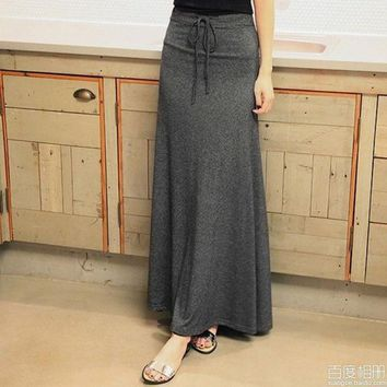 PEAPIX3 Women's long skirt with string around the waist,one size = 1946476868