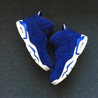 Best Deal Online Nike Air Jordan Retro 6 Blue Suede Men Sneakers