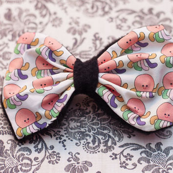 Of Mice & Men - Cute Rainbow Squidgy Pattern Hair Bow