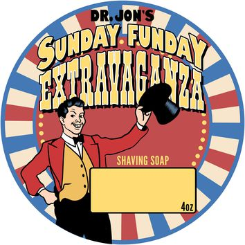 Dr. Jon's Sunday Funday Fragrance Extravaganza 4oz Vegan Shaving Soap