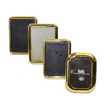 Vintage Brass Picture Frames Gold Picture Frames Square Round Picture Frames Wedding Décor Wedding Frames Set of 4