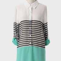 Easygoing Colorblocked Tunic Top