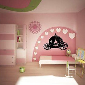 Cinderella Carriage Wall Art Sticker Decal Ar337