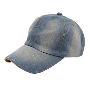 Men's Women's Jean Hats Casual Hat Casual Denim Baseball Cap Sun Hat Gorras CF