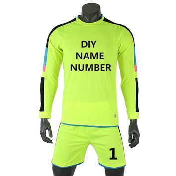 2018 Kids Soccer Jerseys Set survetement Football Kits Adult Men Child kids Futbol Goalkeeper Training Uniforms Maillot De Foot