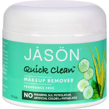 Jason Quick Clean Make-up Remover Fragrance Free - 75 Pads