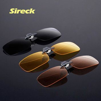 Sireck Professional Anti-UV Polarized Clip On Sunglasses Ultralight TR90 Sport Cycling Fishing Glasses Clip Driving Eyewear Lens