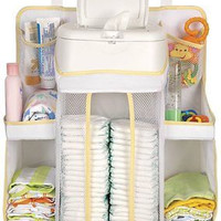 Baby Nursery Organizer Diaper Storage Hang on Crib Table Wall
