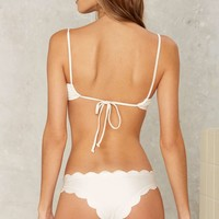 Lolli Swim Happy Clam Scalloped Bikini Bottom