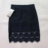 Spring Women Skirt Lace Stretch Office Stretch Black Pencil Skirts