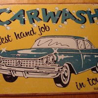 CLASSIC RETRO RUSTIC VINTAGE CAR WASH SIGN AUTO DECOR