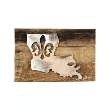 Fleur De Lis Metal Art Wall Decor