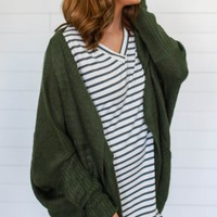 Past Miracles Cardigan - Olive