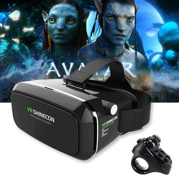 Pro Goggles Virtual Reality Mobile VR 3D Glasses Headset + controller
