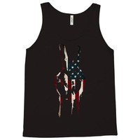 peace and love usa flag Tank Top